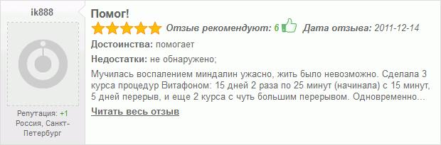 Отзывы о Витафоне - Помог! - 5 звезд