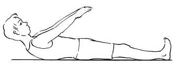 медленно потянуться руками к коленям